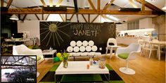 Such a cute idea for employee break room. via @Houzz