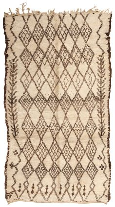 View this beautiful Vintage Moroccan Oriental Rug 44458 from Nazmiyal's fine antique rugs and decorative carpet collection. Morrocan Rug, Moroccan Art, Hardanger Embroidery, Ribbon Embroidery, Oriental Design, Oriental Rug, Thread Crochet, Filet Crochet, Cushion Cover Pattern