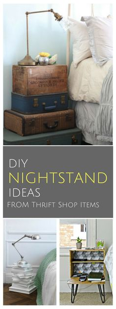 3 Ways To Create Your Own Nightstand With Thrift Shop Items   DIY Craft Ideas You Can Do This Weekend