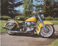This yellow Harley Davidson vintage motorcycle art print poster is a perfect pick for those who like giving an antique touch to their house! Just place it on the wall of your living room and you can be sure of getting innumerous compliments from your guests for your excellent taste in home accessories. What are you waiting for, hurry up and order this poster for its excellent quality with high degree of color accuracy.