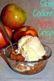 Easy Slow Cooker Meals: Slow Cooker Apple Crisp Recipe - A Slow Cooker Dessert Recipe