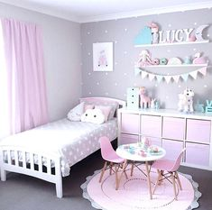 A Pink And Lavender Room For A Little Girl It's time to introduce what's going to be the cutest room of our White & Light Home. Here are all the plans of our pink and lavender room for a little girl. - A Pink And Lavender Room For a Little Girl - Part 1 Girls Room Paint, Girls Room Design, Kids Bedroom Designs, Girl Bedroom Paint, Painting Girls Rooms, Girls Bedroom Ideas Paint, Girls Bedroom Colors, Little Girl Bedrooms, Childrens Bedrooms Girls