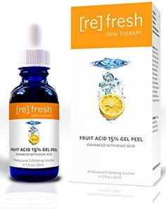Fruit Acid Gel Peel 15% (Lactic, Glycolic, Pyruvic) Enhanced with Kojic - Professional Chemical Peel, Best At Home AHA Peel Refresh Skin Therapy http://www.amazon.ca/dp/B00ICXI5QI/ref=cm_sw_r_pi_dp_bzcfvb11FHZ14