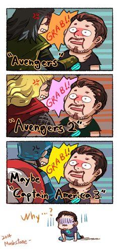 Everybody likes grabing Tony Stark by Mushstone on deviantART