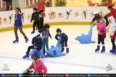 Holidays are here. Its time for #Enjoyment and #Thrill. Come and Enjoy at Sharjah's largest Ice #Skating Rink at #AlShaabVillage. #Sharjah #UAE #Happiness #Fun #Friends