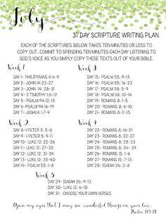 Sweet Blessings: July Scripture Writing Plan