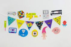90s Party Printable, Photo Booth Props | INSTANT DOWNLOAD