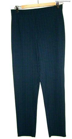 Παντελόνι ελαστικό - κολάν μπλε καρό
