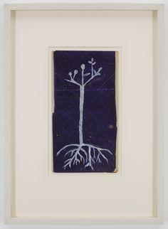 Louise Bourgeois - Untitled, 1944 - Peintures, oil on purple foil paper.