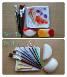 Libidas Creations: Face Painting - Hygiene. This blog teaches you how to clean your brushes and sponges properly after face painting.