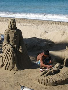 Nativity Sand Sculpture - Christmas by the Sea