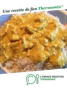 Aiguillettes de poulet, sauce curry et riz par Julie5785. Une recette de fan à retrouver dans la catégorie Plat principal - divers sur www.espace-recettes.fr, de Thermomix<sup>®</sup>.