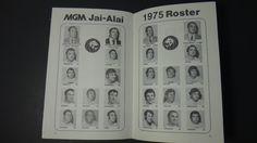 Vintage 1975 MGM Jai Alai Official Program Las Vegas | eBay