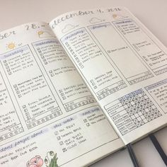 Super Pretty Bullet Journal Weeklies. Great ideas for lovely bujo layouts. This one looks smoothly, magically calm. Like Martha Stewart had a baby with Chriss--Never mind. Lets just say it looks preternaturally calming.