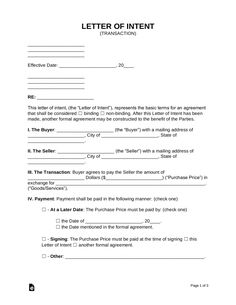 free free letter of intent loi templates word pdf eforms special needs letter of intent template