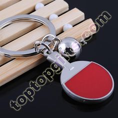 personalized keychains pingpong racket metal keyrings