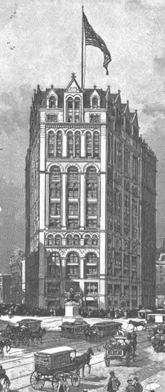 Vintage 1854, New York Times Building Number 2, Park Row, NYC, www.RevWill.com