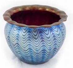 Blue Loetz Vase