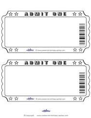 Admit One Ticket Template Lovely Blank Printable Admit E Invitations Coolest Free Movie Ticket Template, Printable Tickets, Free Printables, Free Tickets, Free Printable Birthday Invitations, Printable Cards, Movie Night Party, Family Movie Night, Game Night