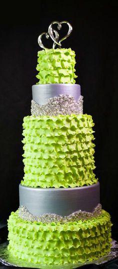 Lime Green Wedding Cake