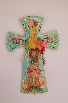 Crucifix Religious Cross Virgen de Guadalupe Mother of Mexico