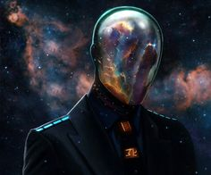 Universe nebula faceplate space suit photoshop art color outer fantasy future colonists travelers mind man amongst the stars sci fi fandom book cover robot design graphic art android Isaac Asimov, Cyberpunk, Cosmos, Science Fiction, Fiction Movies, Fermi Paradox, Lose Your Mind, Jolie Photo, Art Graphique