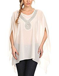 New Modern Kiwi Sequin Your Love Embellished Chiffon Caftan Poncho Tunic online. Find the perfect PattyBoutik Tops-Tees from top store. Sku UJRE88873BRFY46180