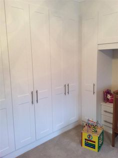 Our shaker door in white is fantastic to keep a room neutral, fresh and clean looking