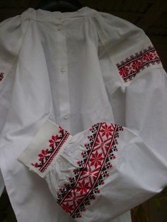 Embroidered blouse of the folk costume from Podlasie   eastern Poland