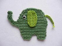 Elefant - Häkelapplikation