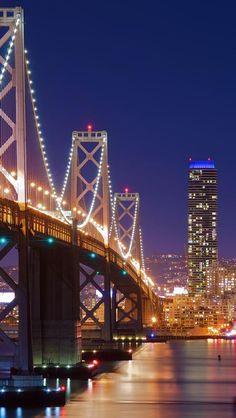 The Bay Bridge, San Francisco at night