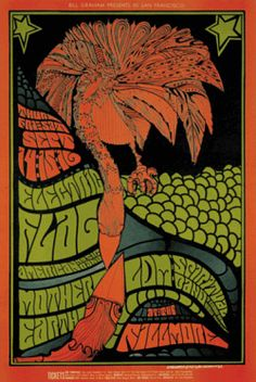 Fillmore Rock Concert Poster from the 1960s.