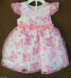 Marmellata 2 Pcs Set Easter Spring Dress Pink Butterflies Size 9 Month NWT #Marmellata #Dressy