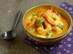 Découvrez la recette Crevettes à l'indienne sur cuisineactuelle.fr.