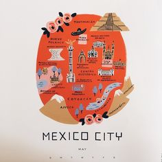 reviewing our printer's proofs for a new city map, Mexico City All our 2016 calendars will be available in the next month or so. #riflepaperco