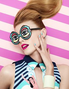 Maryna Linchuk stars in a pop-art beauty story for the March 2013 issue of Vogue Japan shot by Lacey, styled by Beth Fenton with make-up by Andrew Gallimore. Vogue Japan, Vogue Brazil, Beauty Editorial, Editorial Fashion, Vogue Editorial, Editorial Hair, Moda Pop Art, Life Photography, Fashion Photography