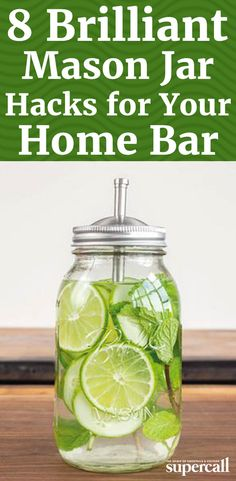The jars fit in at any outdoor event and add rustic appeal to any dinner party—plus, they're ultra portable. But the ubiquitous containers can do even more for cocktail lovers. Here, eight ways to outfit your Mason jars for the bar.