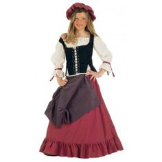 Disfraz de tabernera Eliana niña