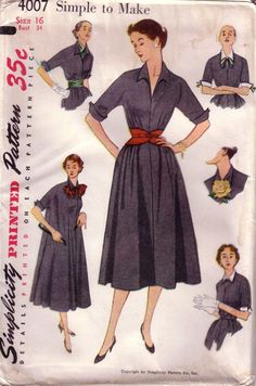 Simplicity 4007 A - Vintage Sewing Patterns