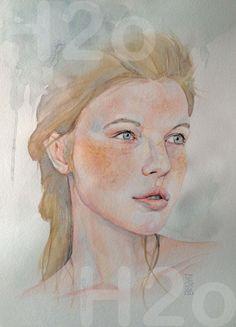 Mercedes Cros - Arista visual Memories, Art, Water Colors, Portraits, Graphite, Memoirs, Art Background, Souvenirs, Kunst