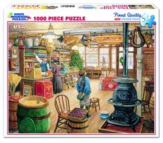 "Piece Count 1000 Pieces Artist Lee Stroncek Puzzle Size 24"" X 30"" (61 X 76 cm) Age 12+ Theme Americana / Shopping Manufacturer White Mountain UPC 724819248537"