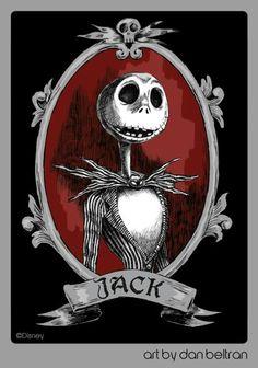 Jack by Dan Beltran - The Nightmare Before Christmas Camilla Lenora Arte Tim Burton, Tim Burton Kunst, Film Tim Burton, Jack Tim Burton, Arte Disney, Disney Art, Halloween Fun, Halloween Decorations, Halloween Witches