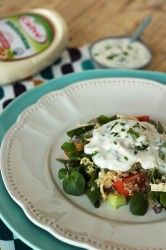 Salada de quinoa com frango e maionese