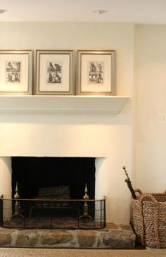 I love the simplicity of this, it stands alone.  I would change the mantel, but I do love the overall look.