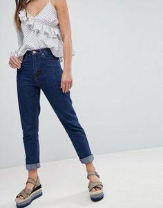 Boohoo Turn Up Hem Mom Jeans