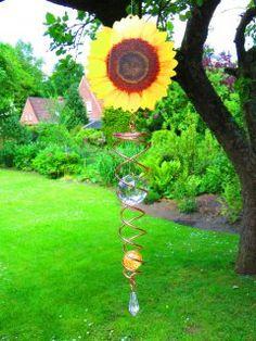 Das Windspiel Sonnenblume https://www.norax.de/Gartendeko/Windspiele/