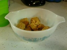 """""""Herba balls"""" - herbalife protein balls. 1 cup whole oats, 3 tbls reduced fat peanut butter, 2 scoop vanilla herbalife healthy meal powder, 1 tbls honey. Run through a food processor and form into balls. Makes roughly 12 protein packed balls at around 40 calories each!"""