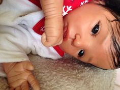 Biracial reborn baby sculpted by Corina A. Wagner, COA, ready for adoption