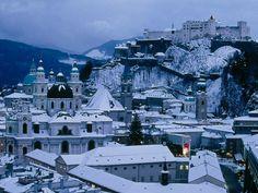 Salzburg, Austria  Just a little snow.