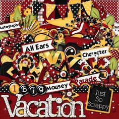 """Disney kit by my fav scrapbooking designer!  (Just So Scrappy) """"1 Big Mousey Vacation Kit"""""""
